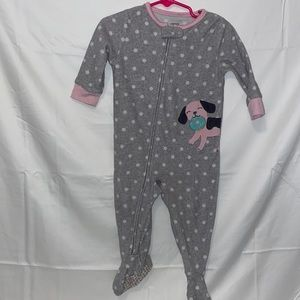 Dog with donut Footed Pajamas